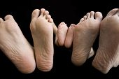 Father, Mother and Baby's Feet
