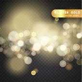Christmas Decorations On A Transparent Background. Light Effect. Light Blur Effect Vector Premium Ba poster