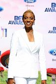 LOS ANGELES - JUNE 26:  MC Lyte arriving at the 11th Annual BET Awards at Shrine Auditorium on June