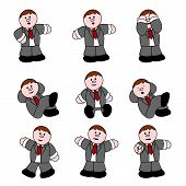 People Professions - Businessman set