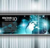 Hitech Resumen Antecedentes del negocio con motivo brillante Resumen para presentación corporativa f