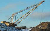 Dragline in open pit