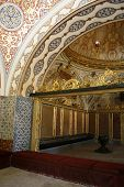 Beautiful Colorful Tiles And Gilded Decoration Inside Topkapi Palace, Istanbul