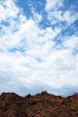 soil background of sky