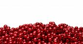 Background With Red Beads