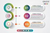 Business Infographics Three Steps Modern Creative Step By Step Can Illustrate A Strategy, Workflow O poster