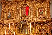 Golden Altar Serra Chapel Mission San Juan Capistrano Church California