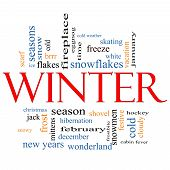 Winter Word Cloud Concept