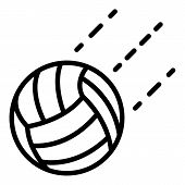 Volleyball Ball In Flight Icon. Outline Volleyball Ball In Flight Icon For Web Design Isolated On Wh poster