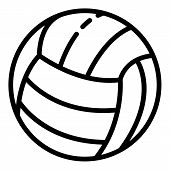 Volleyball Ball Icon. Outline Volleyball Ball Icon For Web Design Isolated On White Background poster