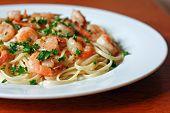 Shrimp Scampi and Pasta