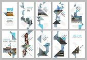 Creative Social Networks Stories Design, Vertical Banner Or Flyer Templates With Colorful Triangle O poster