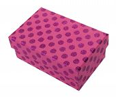 Pink Giftbox With Purple Spots