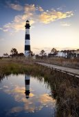 Bodie Island Lighthouse Cape Hatteras litorânea Outer Banks Nc