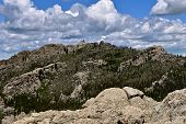 The Distant Mountain Is Black Elk Peak, Formerly Known As Harney Peak,  Of The Black Hills In South  poster