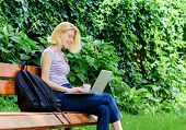 Student Girl Study Online. Student Prepare For Exams. Students Life. Pretty Woman. Online Education. poster