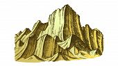 Peak Of Rocky Mountain Landscape Vector. Mountain Versant Rock Peak Felsenwand Adventure Wilderness  poster