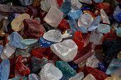 Multi-colored Stones, Colored Background, Colorful Decorative Stones, Aquarium Stones, Garden Stones poster