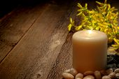 Spiritual Meditation And Reflection Pillar Candle
