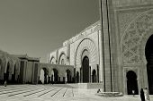 Black And White Photo.  Morocco Building, Morocco Architecture, Patterns And Ornaments poster