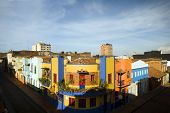 Rooftop View La Candelaria Bogota Colombia Colorful Architecture Historic District