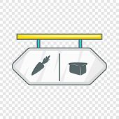 Pointer Shop Icon. Flat Illustration Of Pointer Shop Icon For Web poster