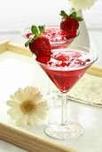 Soft Drink With Strawberry poster