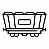 Freight Railway Wagon Icon. Outline Freight Railway Wagon Icon For Web Design Isolated On White Back poster