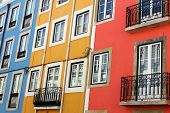 Detail of some typical buildings at Lisbon