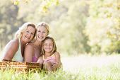 image of mother daughter  - Grandmother with daughter and her daughter - JPG