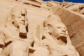 stock photo of nubian  - The Abu Simbel temples are two massive rock temples in Abu Simbel in Nubia - JPG