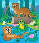 River fauna theme image 3 - vector illustration.