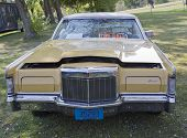 Yellow Lincoln Continental Front View