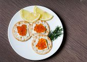 Red Caviar Breakfast