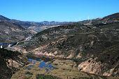 River in Vale of Lecrin, Las Alpujarras, Spain.