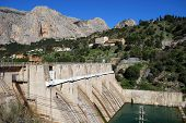 Hydo-electric power plant and dam, Spain.