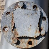 Flange On The Old Pipeline
