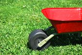 The Red Handbarrow In The Garden.
