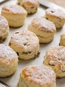 Tray Of Fruit Scones