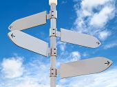 Blank Directional Signs Post