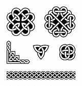 stock photo of celtic  - Set od traditional Celtic symbols - JPG
