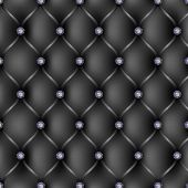 Black Leather Upholstery Pattern Background