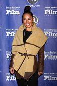 SANTA BARBARA - JAN 24:  Debra Martin Chase arrives at the Santa Barbara International Film Festival