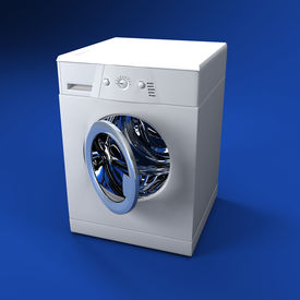 stock photo of washing-machine  - fine 3d image of classic washing machine background - JPG