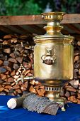 The Retro Russian  Samovar With Woods