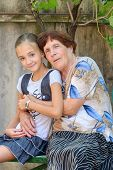 The Grandmother With  Granddaughter