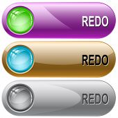 Redo. Internet buttons. Raster illustration.