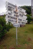 Abandoned Tourist Sign