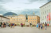 Mozartplatz Square In Salzburg, Austria
