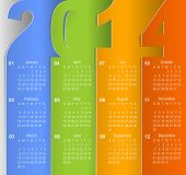 Clean 2014 business wall calendar